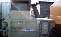 Used 2 yard Stationary Compactor